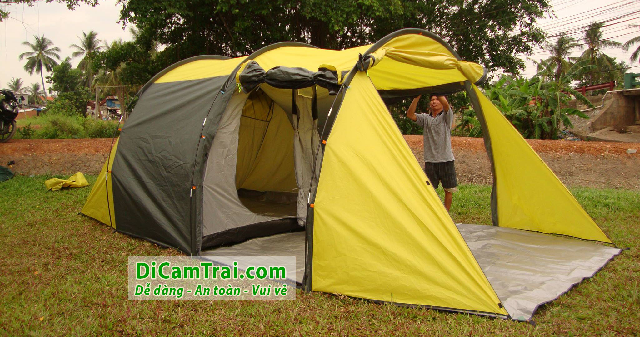 thuê lều cắm trại 16 người