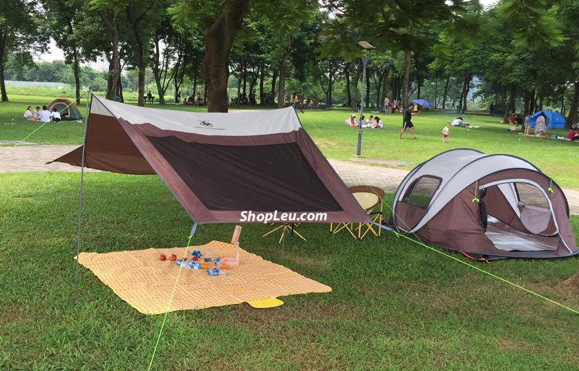 lều cắm trại tự bung gl1262 có mái che