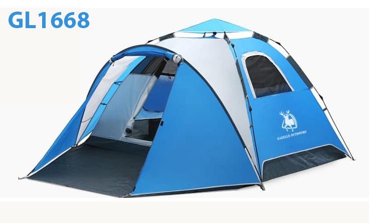 lều cắm trại tự bung 2 phòng