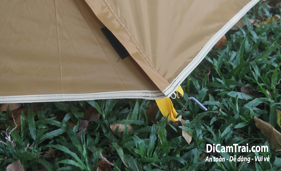 chống gió cho lều cắm trại